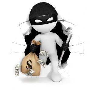 Einbrecher mit Beute