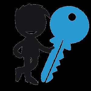 Schlüsseltyp schwarz blau