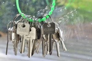 Schlüsselbund grün